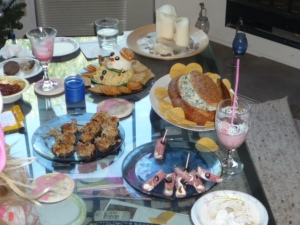 For about 7 people...we had a LOT of food.