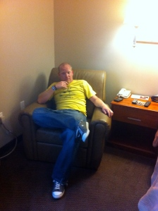 Eric chillin' in the Suite of Awesome